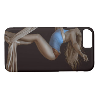 Beautiful Suspended Aerial Silk Performer iPhone 8/7 Case
