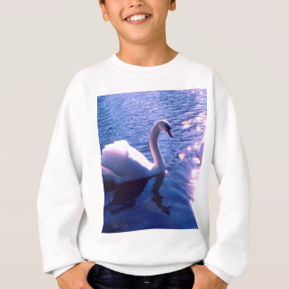 Beautiful swan in lake sweatshirt