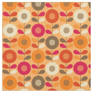 Beautiful swedish floral seamless pattern fabric
