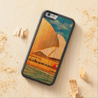 Beautiful Sydney Opera House Carved Cherry iPhone 6 Bumper Case