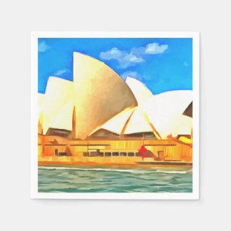 Beautiful Sydney Opera House Disposable Serviettes