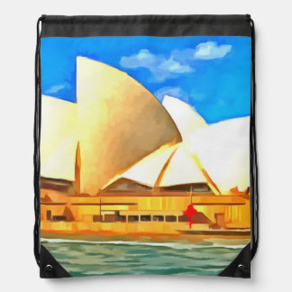 Beautiful Sydney Opera House Drawstring Bag