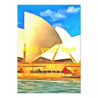Beautiful Sydney Opera House Magnetic Card