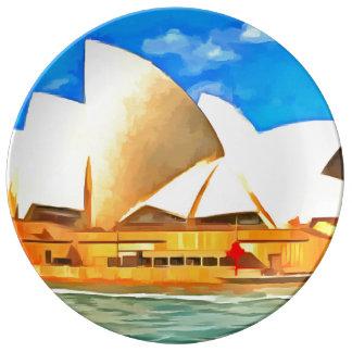 Beautiful Sydney Opera House Plate