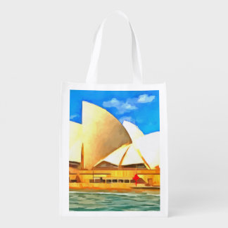 Beautiful Sydney Opera House Reusable Grocery Bag