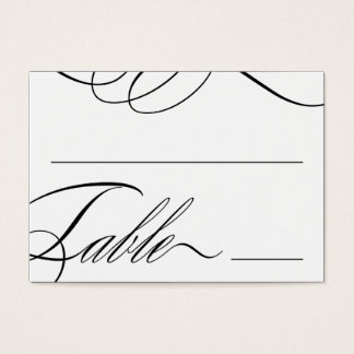 Beautiful Table Seating Cards (Customizable Color)