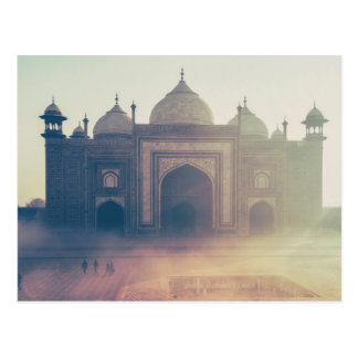Beautiful Taj Mahal in a foggy day Postcard