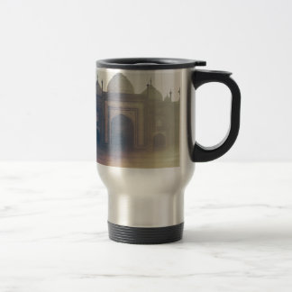 Beautiful Taj Mahal in a foggy day Travel Mug