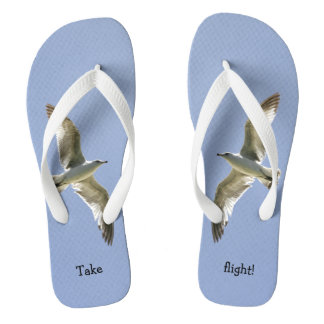 Beautiful 'Take Flight' Flying Seagull Thongs