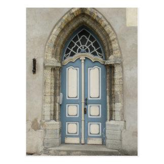 Beautiful Tallinn, Estonian Stone and Wood Doorway Postcard