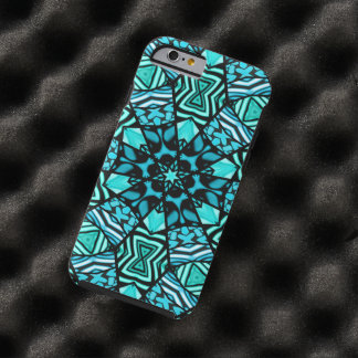 Beautiful Teal Aqua Turquoise Ethnic Mosaic Tough iPhone 6 Case