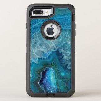 Beautiful Teal Blue Agate Stone OtterBox Defender iPhone 8 Plus/7 Plus Case