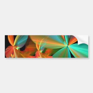Beautiful Teal & Orange Fractal Art Flower Petals Bumper Sticker