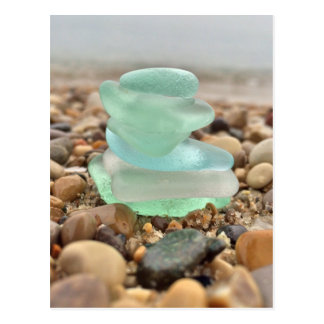 Beautiful Teal Seaglass Beach Thinking of You Card