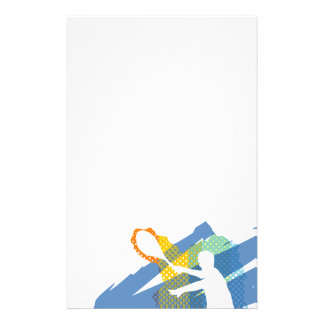 Beautiful Tennis Stationary / Letterhead Customised Stationery