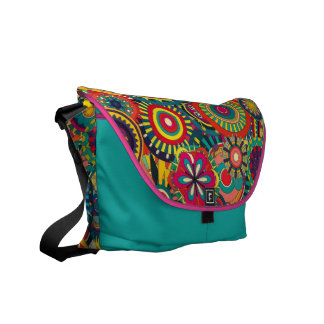 Beautiful Texture floral colorful Pattern Messenger Bags