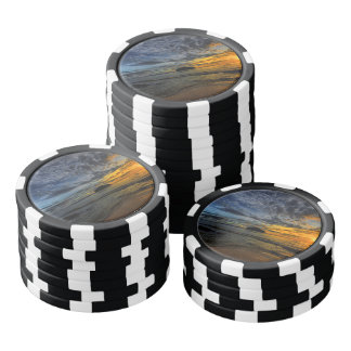 Beautiful Thailand coast at sunset time Poker Chips
