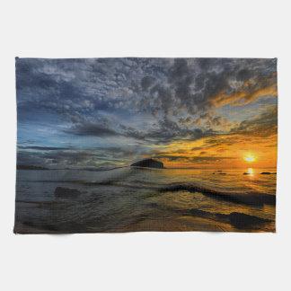 Beautiful Thailand coast at sunset time Tea Towel