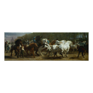 "Beautiful ""The Horse Fair"" by Rosa Bonfeur Poster"