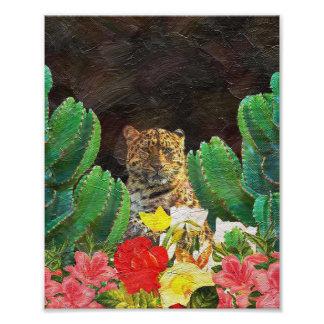 Beautiful Tiger Cactus Floral Oil Painting Photograph