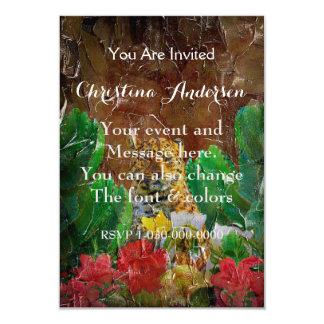 Beautiful Tiger Floral Palette Oil 9 Cm X 13 Cm Invitation Card
