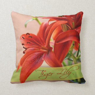 Beautiful Tiger Lily Flower Close-Up Photograph Cushion