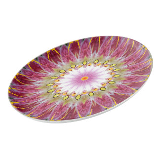 Beautiful Tiger Lily Porcelain Coupe Platter