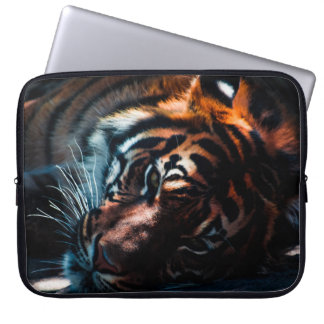 Beautiful Tiger Lying On His Side Laptop Bag