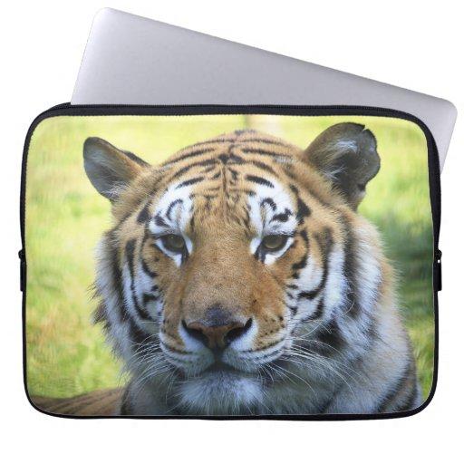 Beautiful tiger portrait computer sleeve