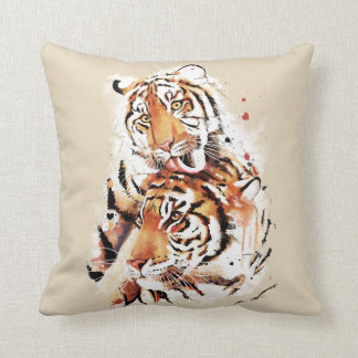 Beautiful tigers, big cats throw pillow