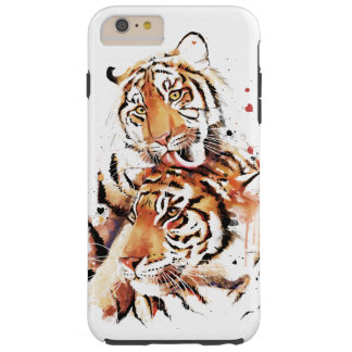 Beautiful tigers, big cats tough iPhone 6 plus case