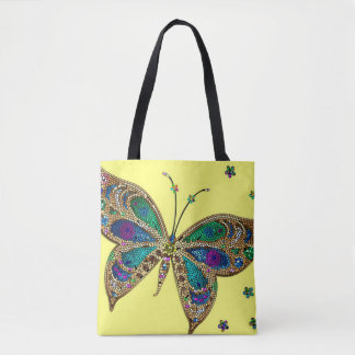 Beautiful Tiled Butterfly Tote