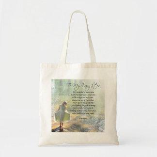 """Beautiful """"To My Daughter"""" Poem Tote Bag"""