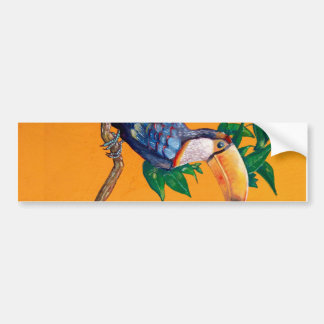 Beautiful Toucan Bird Painting Bumper Sticker