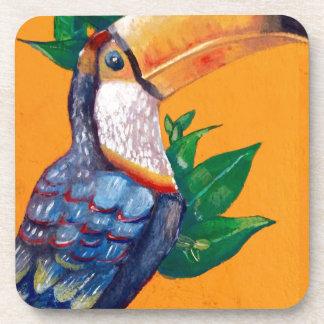 Beautiful Toucan Bird Painting Coaster