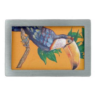 Beautiful Toucan Bird Painting Rectangular Belt Buckles