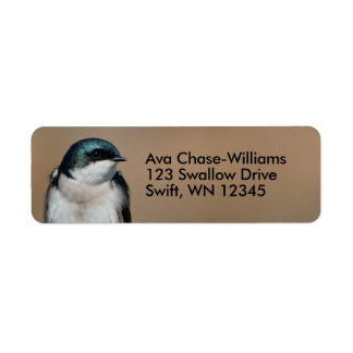 Beautiful Tree Swallow on the Wire Return Address Label