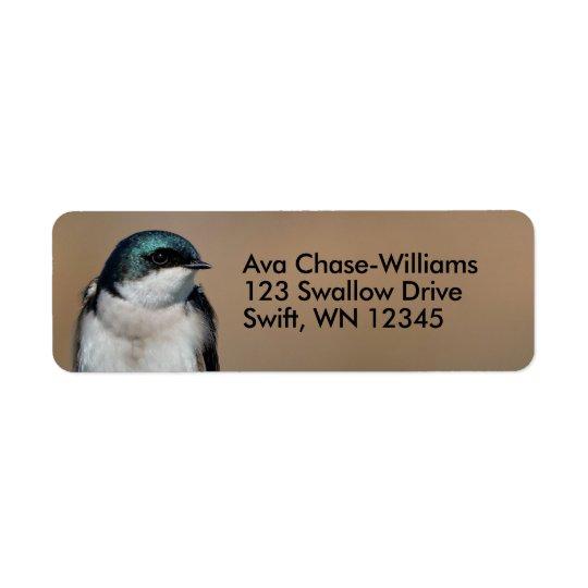 Beautiful Tree Swallow on the Wire Return Address Label