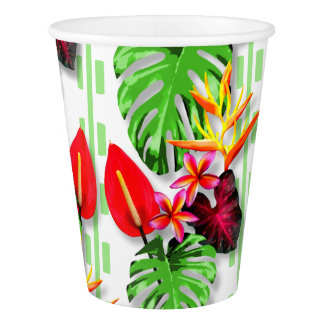 Beautiful Trendy Tropical Leaf Flower Theme