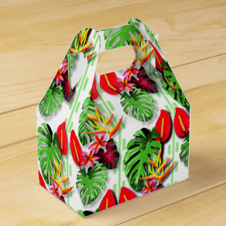 Beautiful Trendy Tropical Leaf Flower Theme Favour Box