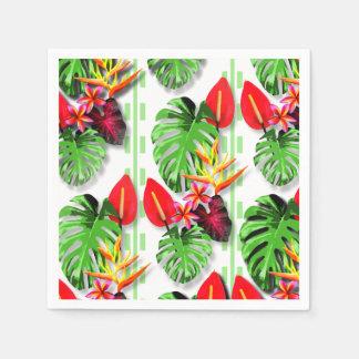 Beautiful Trendy Tropical Leaf Flower Theme Paper Napkin