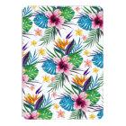 Beautiful tropical floral paint watercolors card
