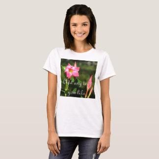 Beautiful tropical pink floral t-shirt