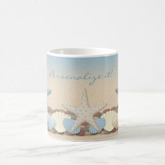 Beautiful Tropical Theme Beach Shells Coffee Mug