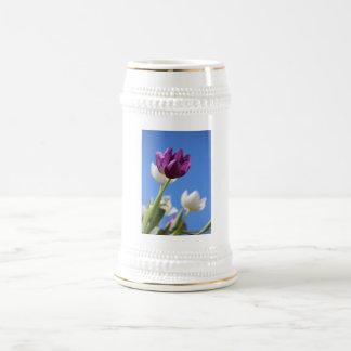 Beautiful Tulips Beer Stein