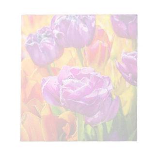 Beautiful tulips notepad