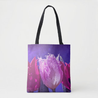 Beautiful tulips on a tote bag