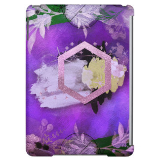 beautiful, ultra violet, abstract,collage,silver,f case for iPad air