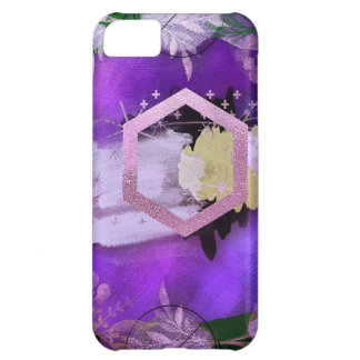 beautiful, ultra violet, abstract,collage,silver,f iPhone 5C case