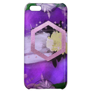 beautiful, ultra violet, abstract,collage,silver,f iPhone 5C cover